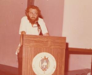 Professor Chirity em 1977